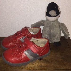 See Kai Run red n gray shoes